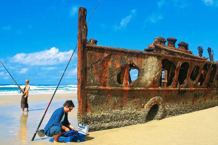 ブリスベン発 世界最大の砂の島 世界遺産...の写真